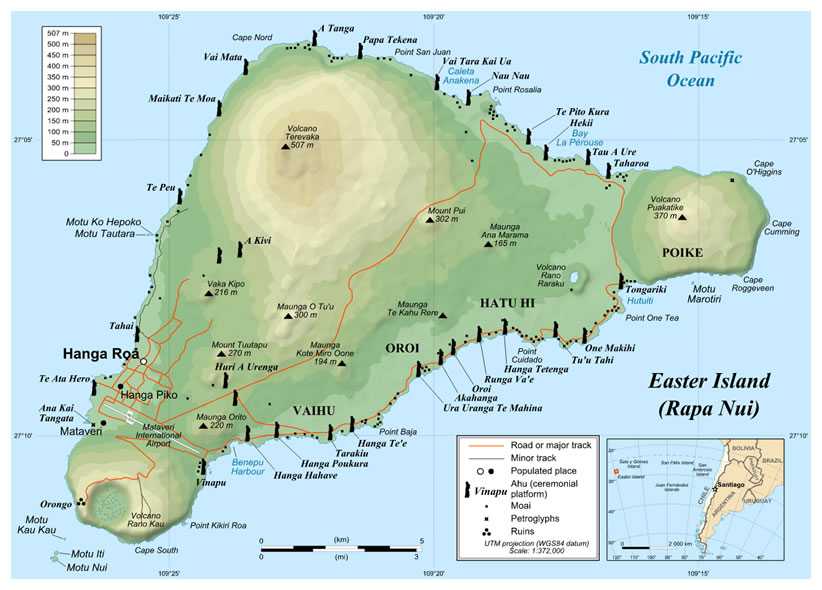 Modern Day Map Of Easter Island